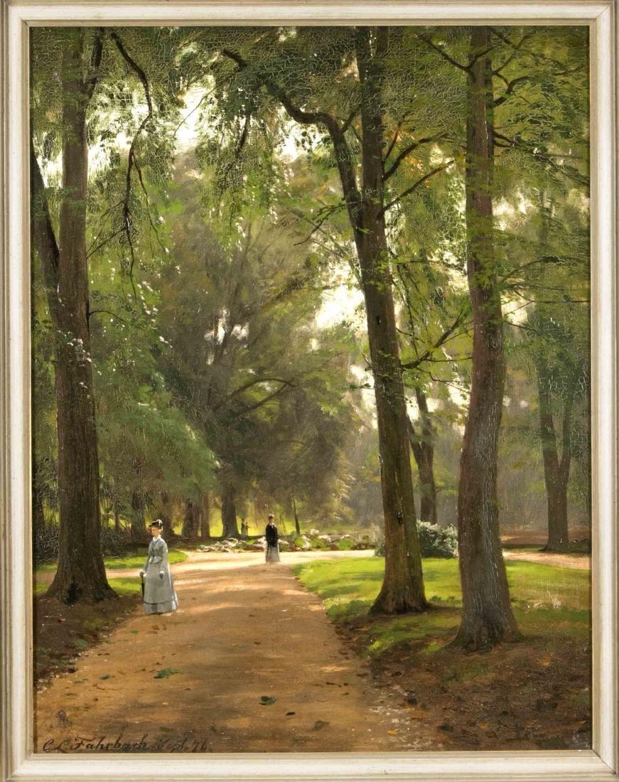Carl Ludwig Fahrbach (1835-1902), Parklandschaft,