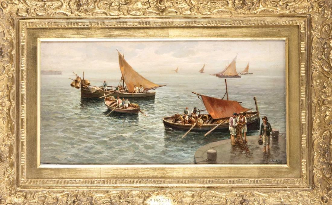 Attilo Pratella (1856-1949), südliche Hafenszene,