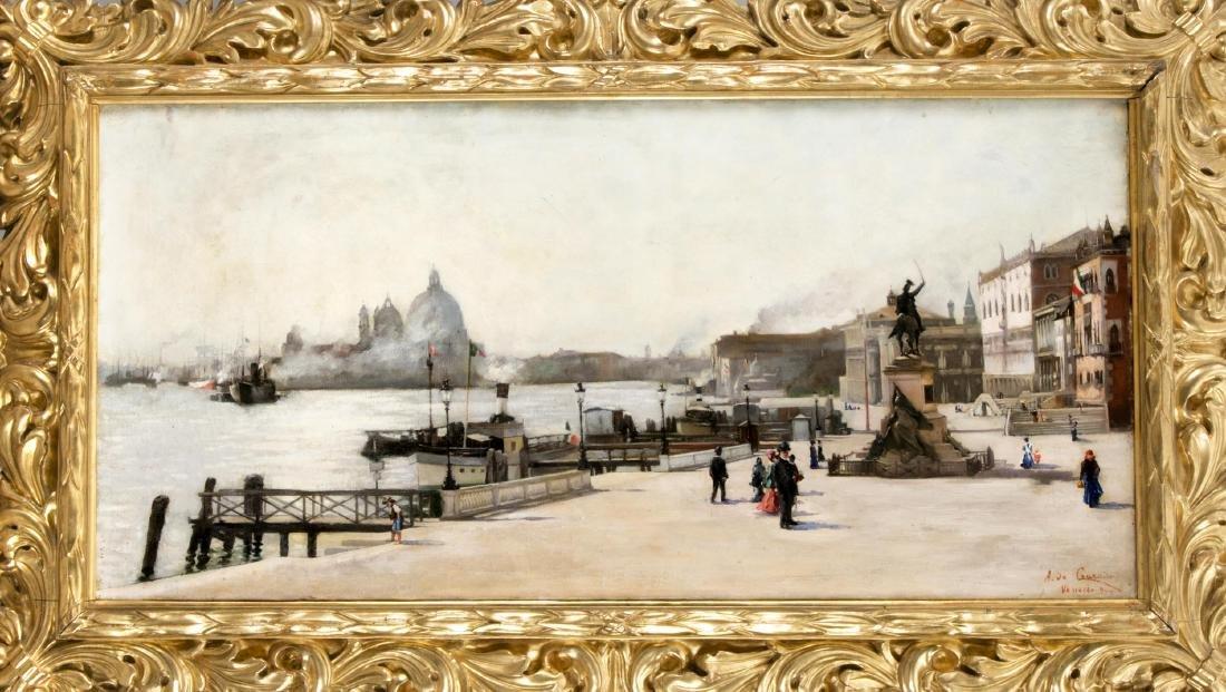 A. de Courado, ital. Maler Anfg. 20. Jh., Blick auf S.
