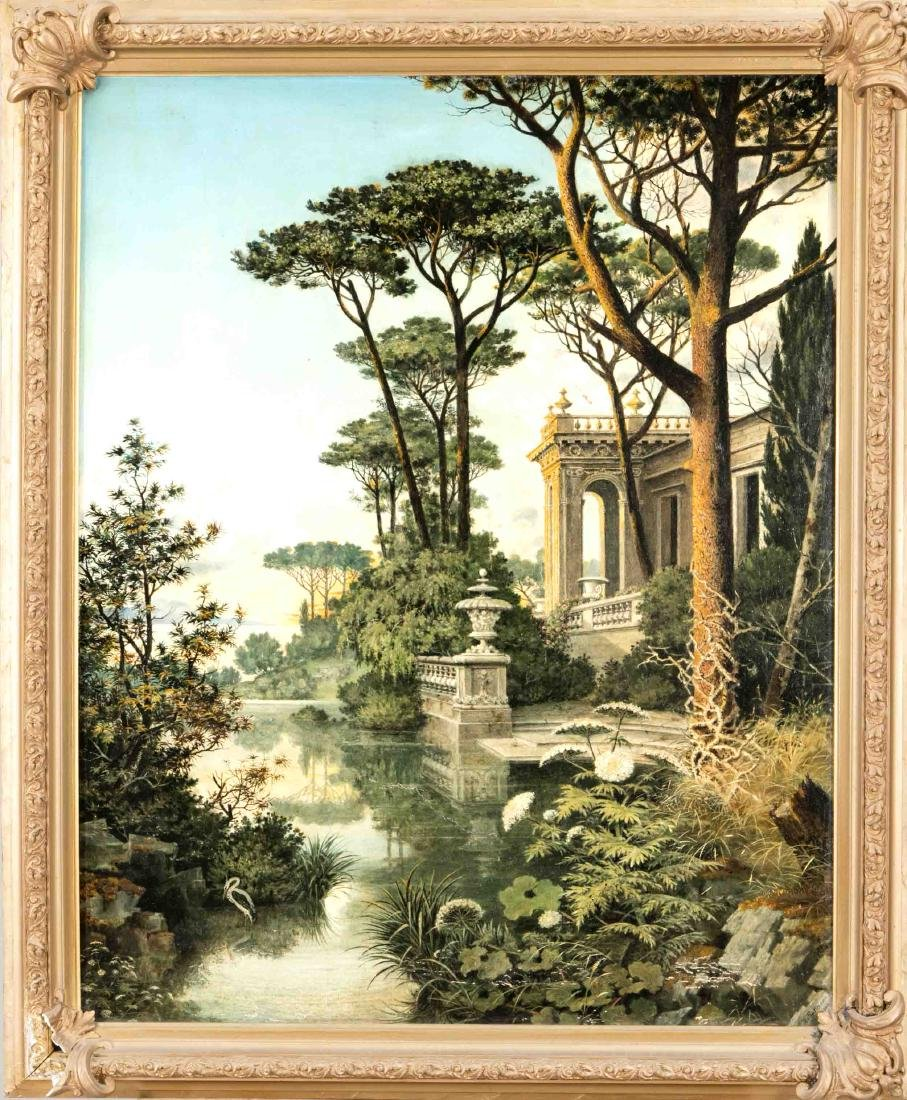 R. Buttmann, around 1900, large view of a villa on