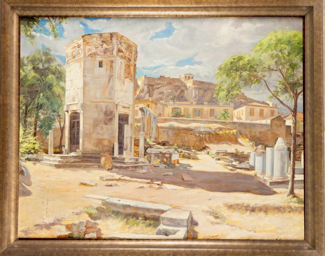 Nikos Xenos (1908-1984), Greek painter, the tower of