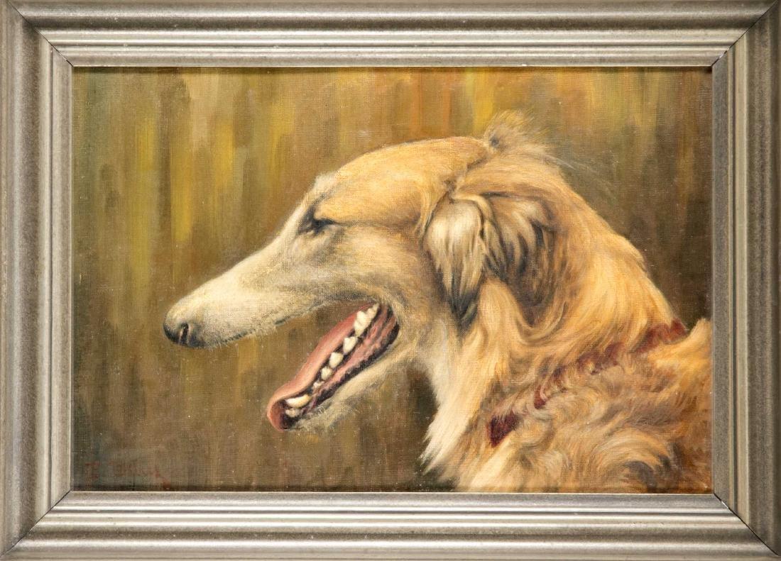 P. Debus, animal painter around 1920, profile portrait