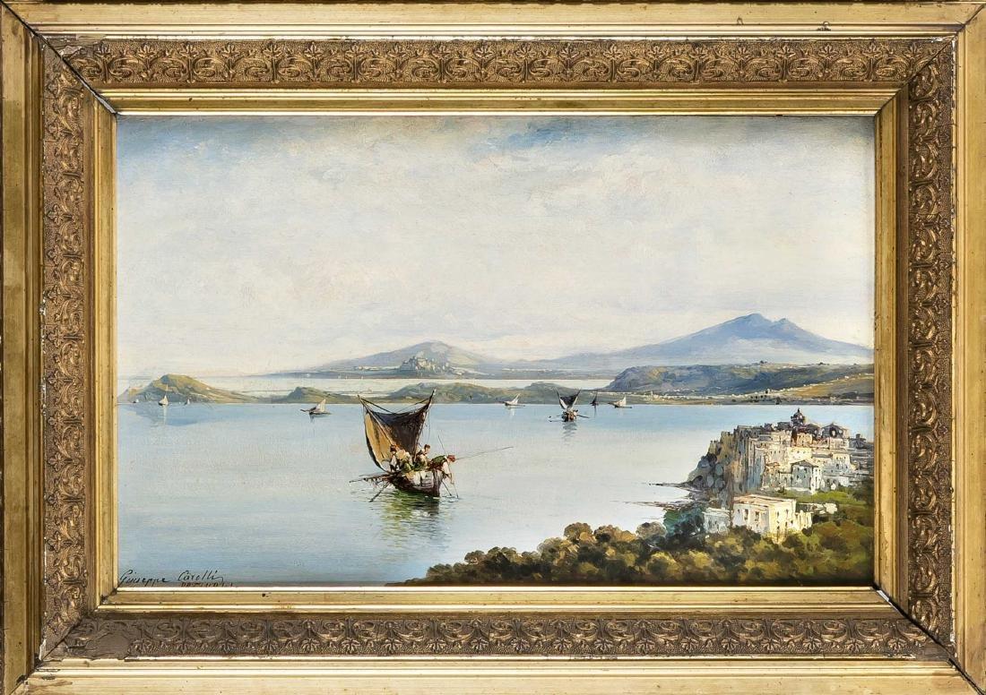 Giuseppe Carelli (1858-1921), Italian Veduta painter,
