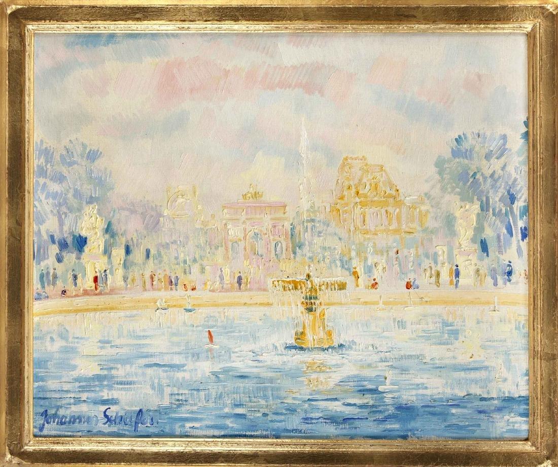 Johannes Schiefer (1896-1979), ''Jardin des Tuileries,