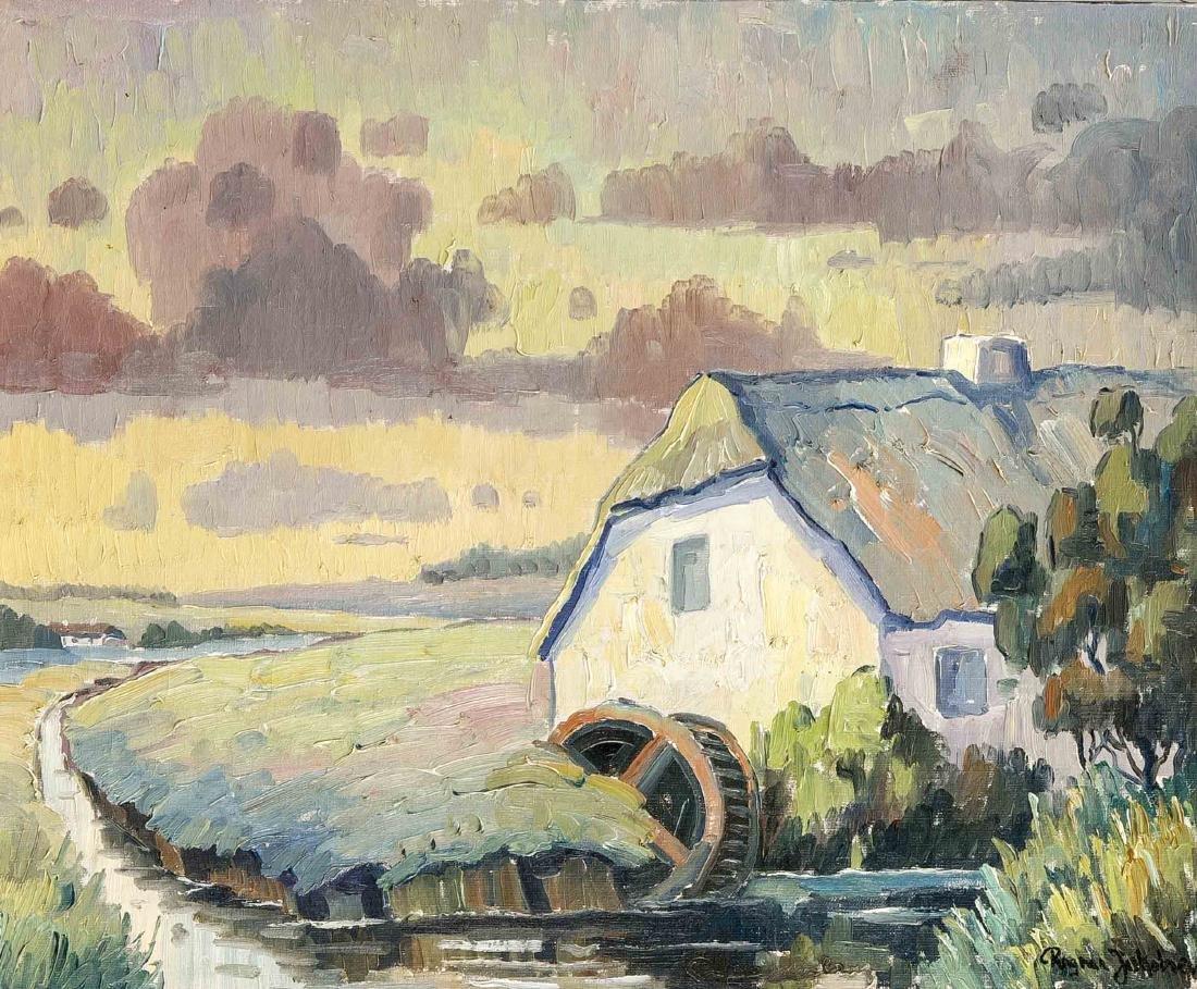 Ragnar Jakobsen, dänischer Landschaftsmaler 1. H. 20.