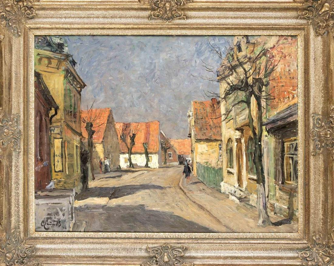 Claus Georg Becker (1902-1983), Dorfstraße in Wedel bei