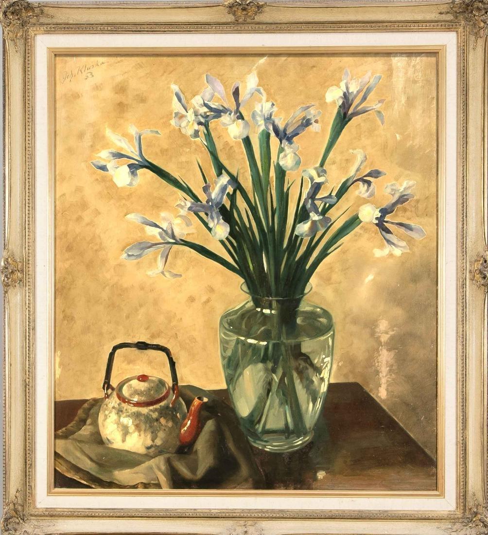 Johann Kluska (1904-1973), flower still life with