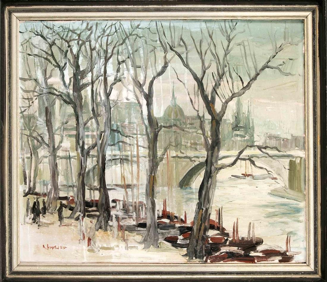 Karl Arnold (1921-2004), oil on canvas, signed and