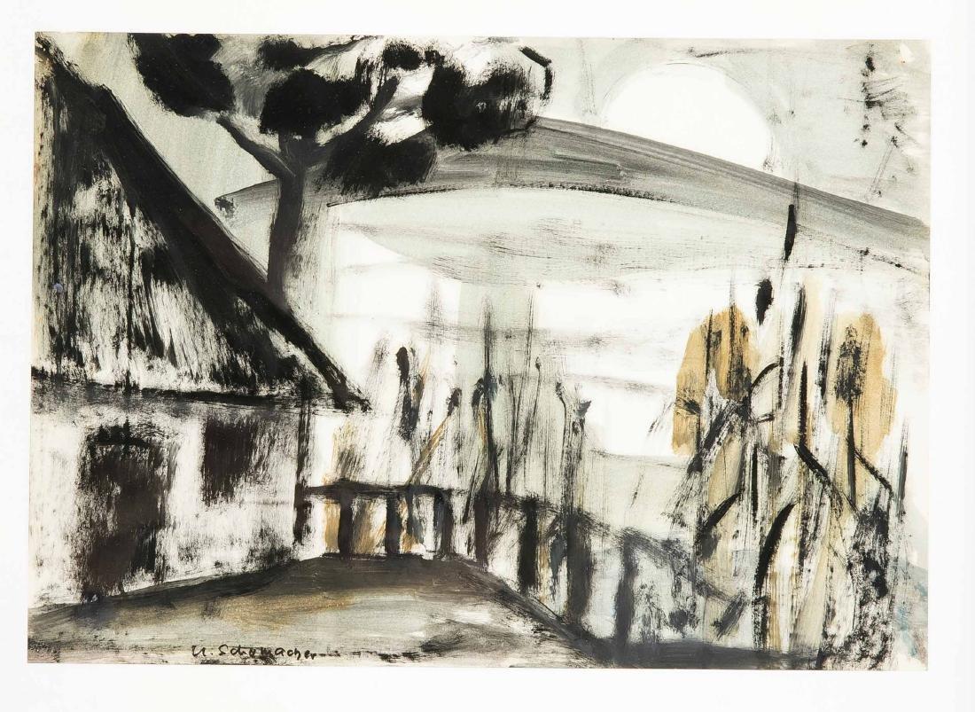 Ursula Schumacher (1925-2012), dt. Malerin, besuchte - 2