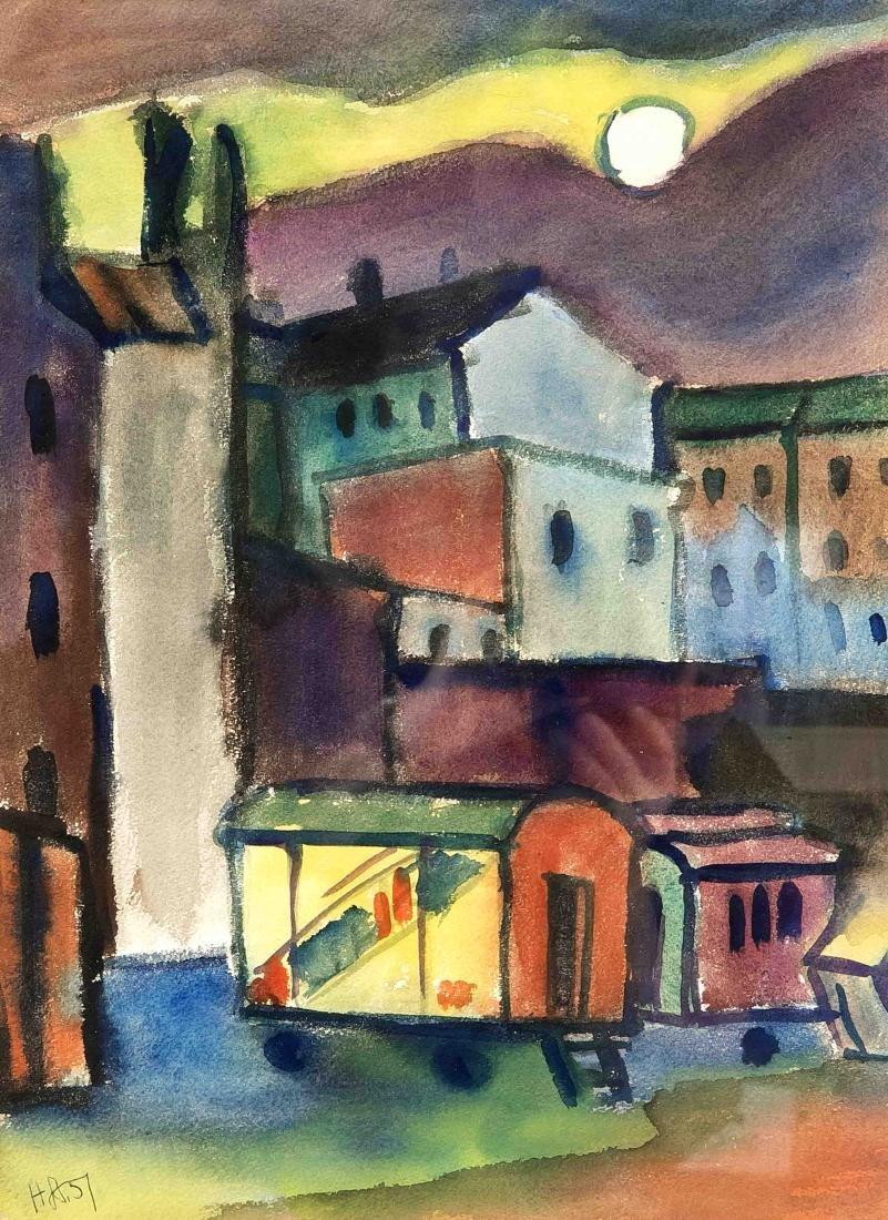 Herbert Strabel (1927-2017), German painter, set