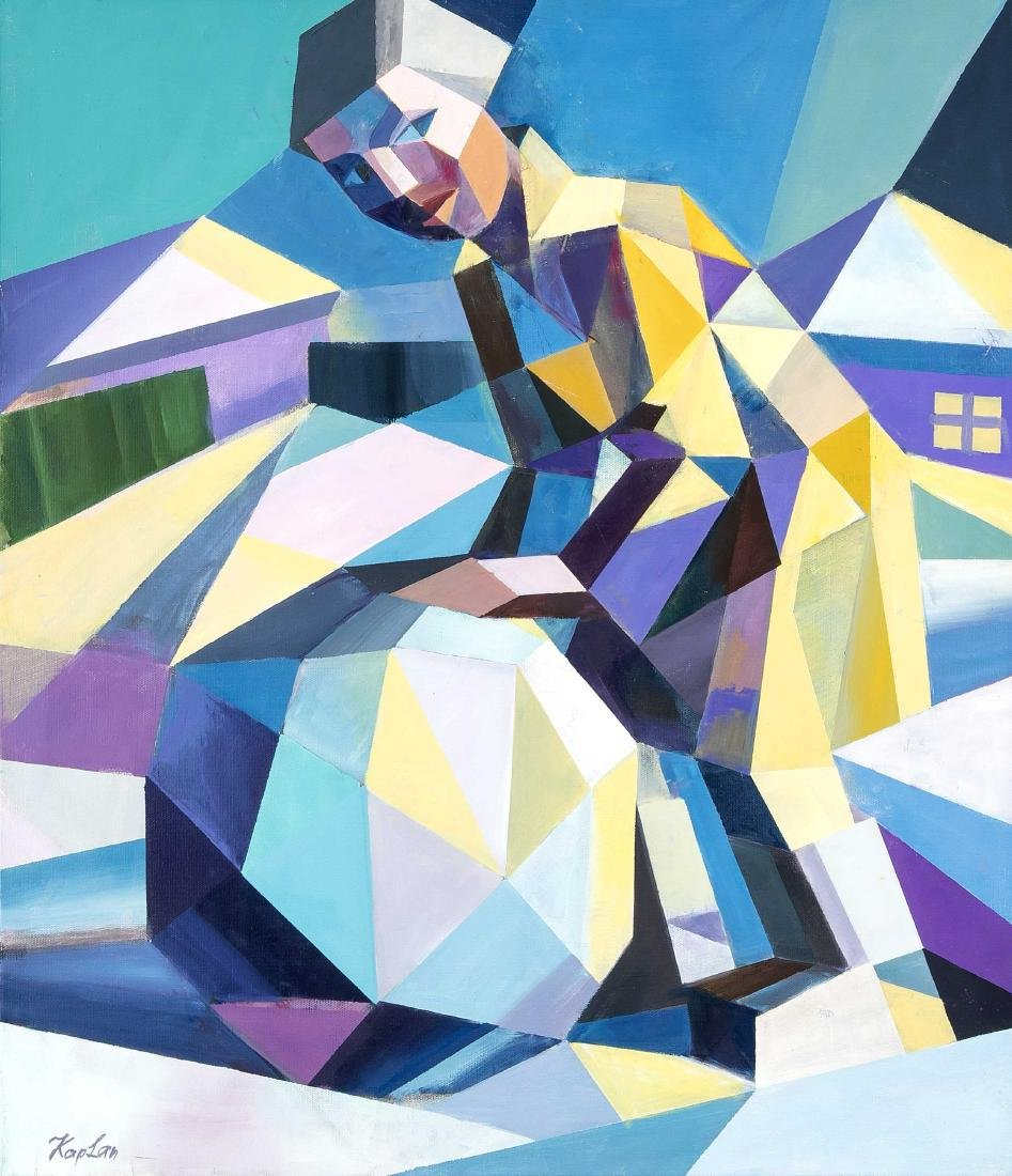 Victor Kaplan, contemporary Russian painter, studied at