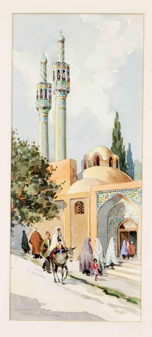 Marius Chambaz (1905-1988), mosque entrance in