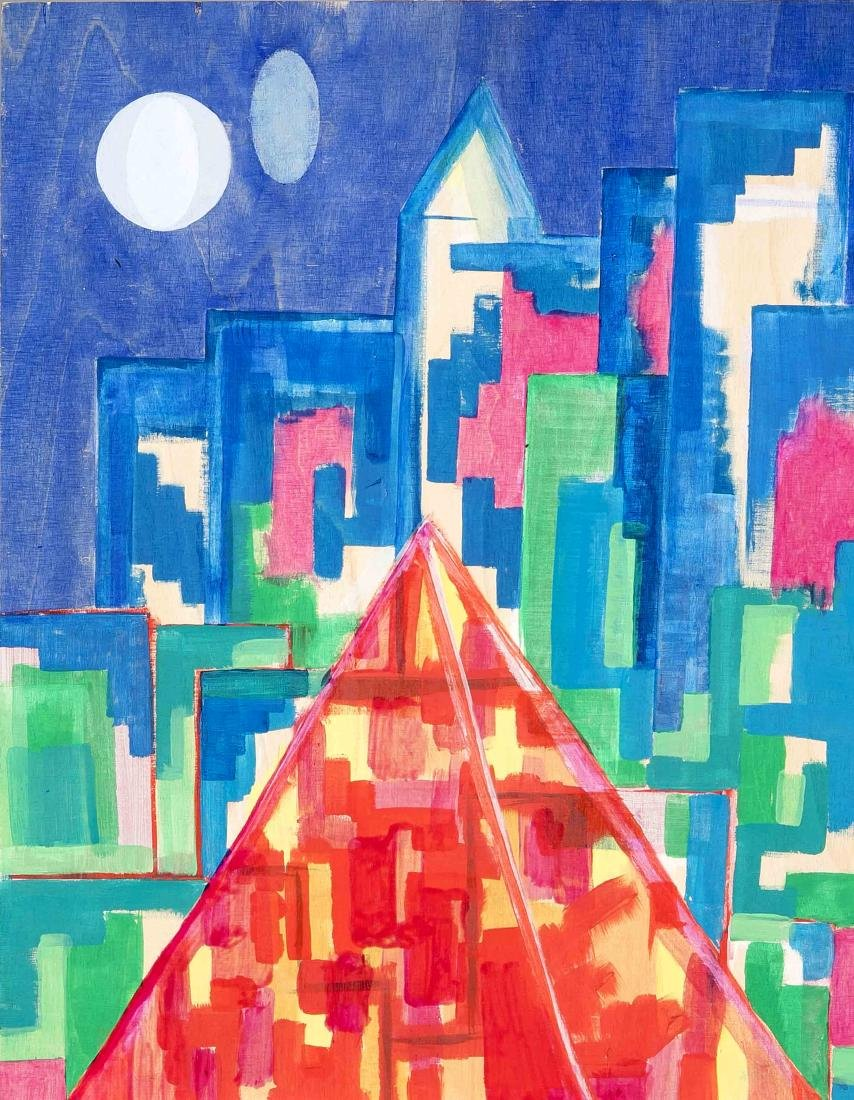 Unidentified contemporary artist, two geometrically