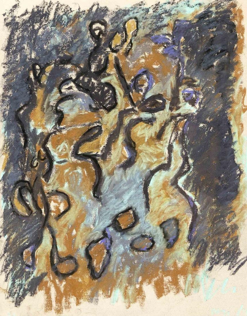 Unidentified painter of the Informel around 1954,