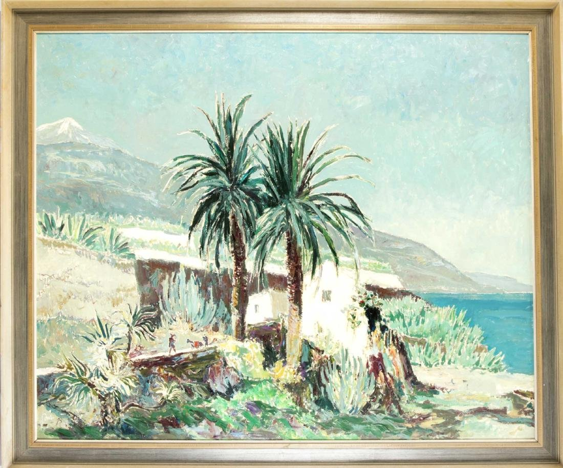 Karl Graf (1902-1986), view from the coast of Tenerife