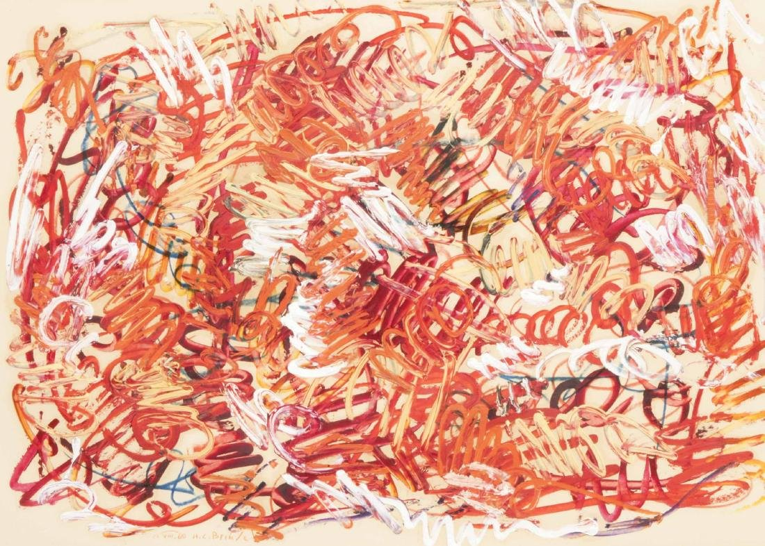 Walter Brendel (1923-2013), abstrakte Komposition in
