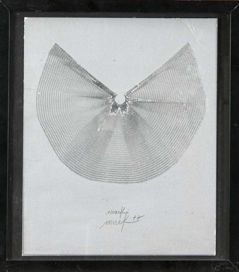 Heinz Mack (* 1931), Silbeflügel, serigraph with silver