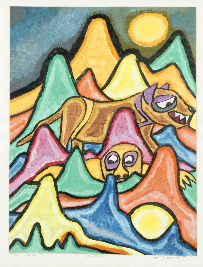 Yinka Adeyemi (* 1941), Nigerian artist, ''Hunters