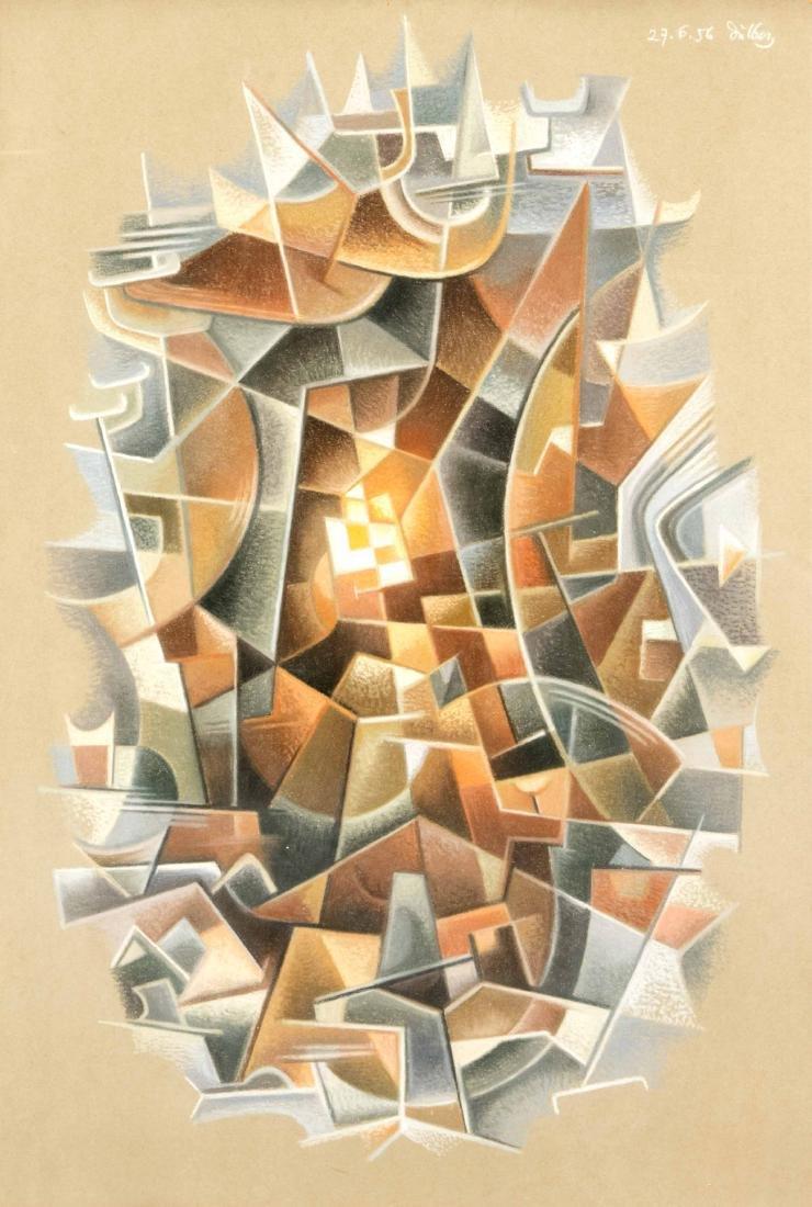 Peter Dülberg (1911-1976), abstrakte Komposition,