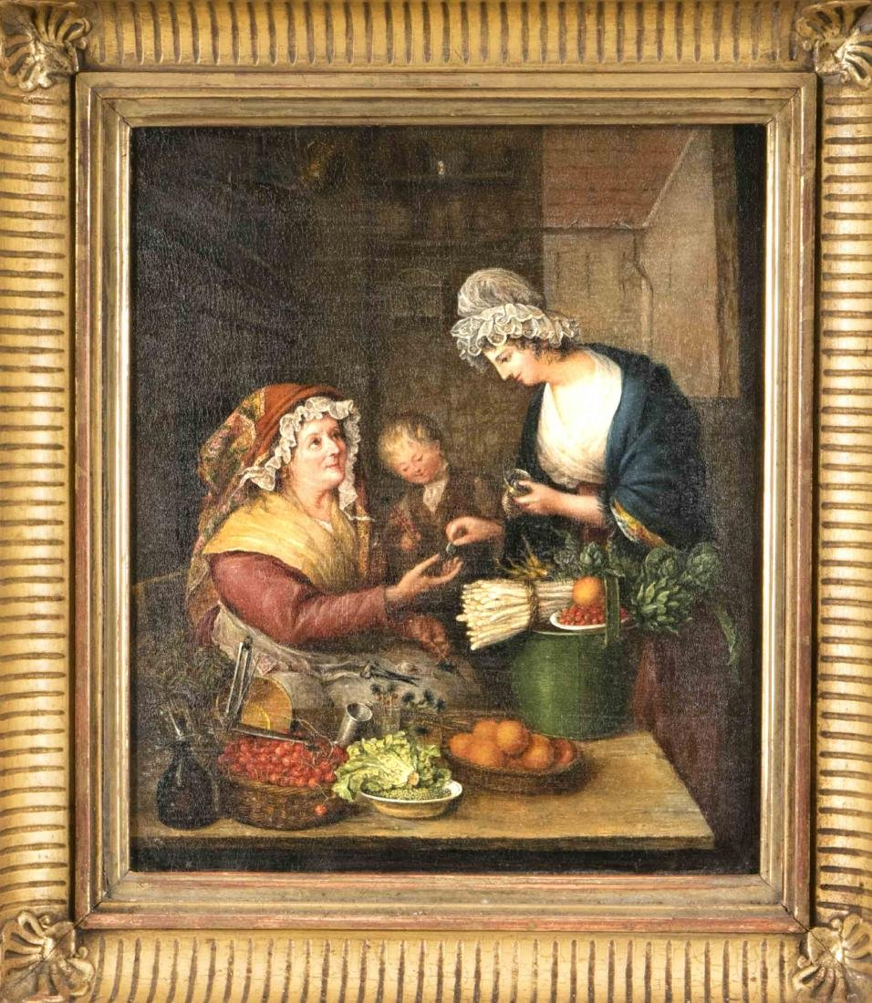 Anonymous painter of the 19th century, at the vegetable