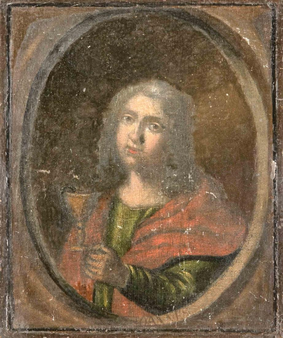 Sacral painter around 1700, St. Peter with keys and St.
