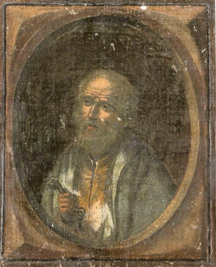 Sacral painter around 1700, St. Peter with keys and St. - 2