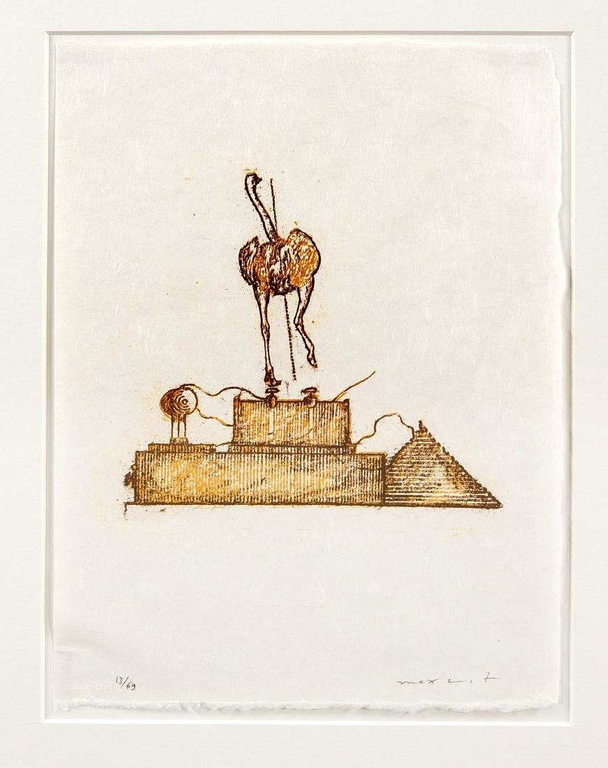 Max Ernst (1891-1976), color lithograph on Japan from