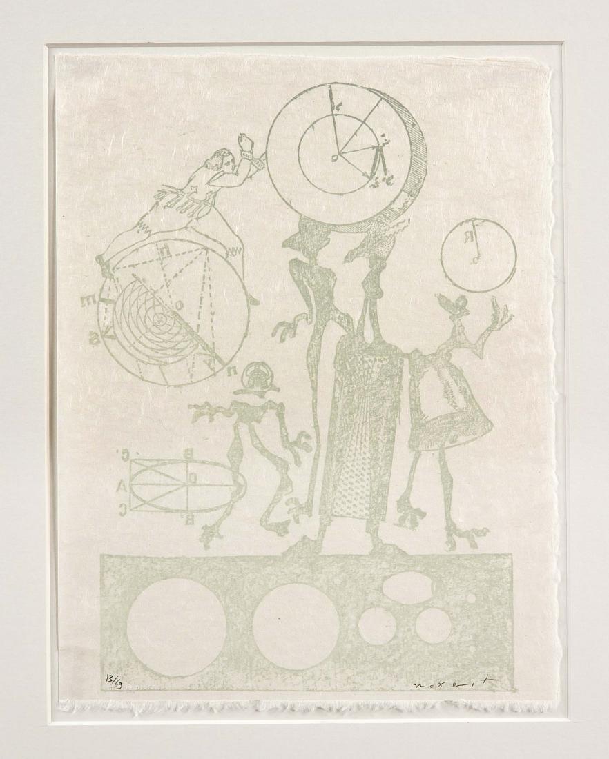 Max Ernst (1891-1976), Farblithografie auf Japan aus
