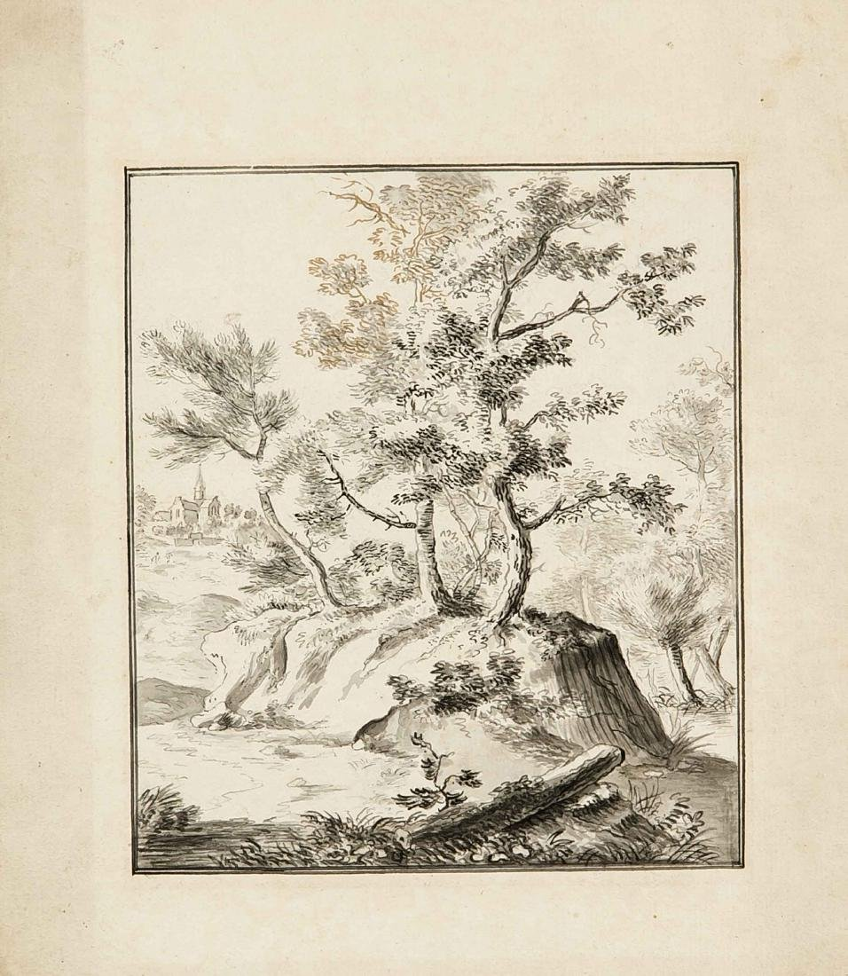 Dutch artist of the 18./19. Century, group of trees