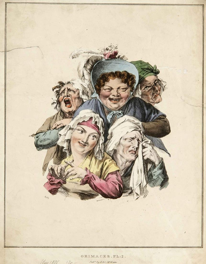 Caricatures, compilation of 12 caricatures of the 19th