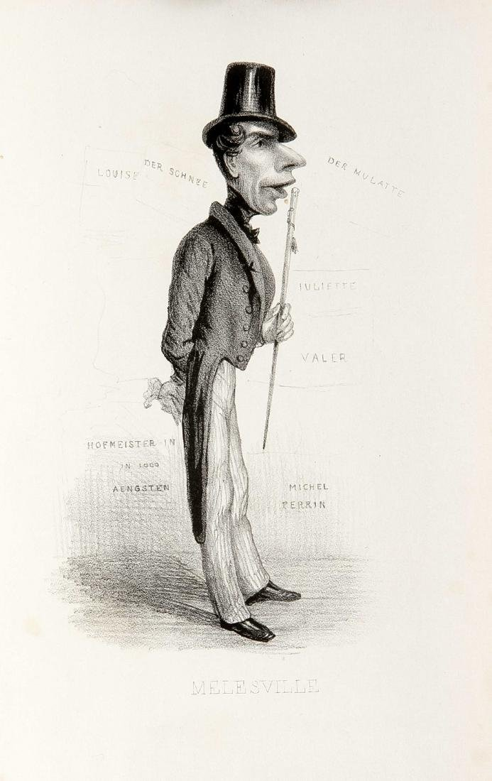 Caricatures, compilation of 12 caricatures of the 19th - 2