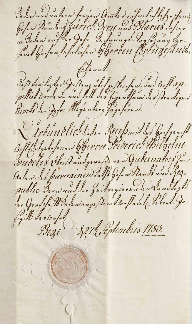 Konvolut von ca. 24 Dokumenten und Autographen des 18.