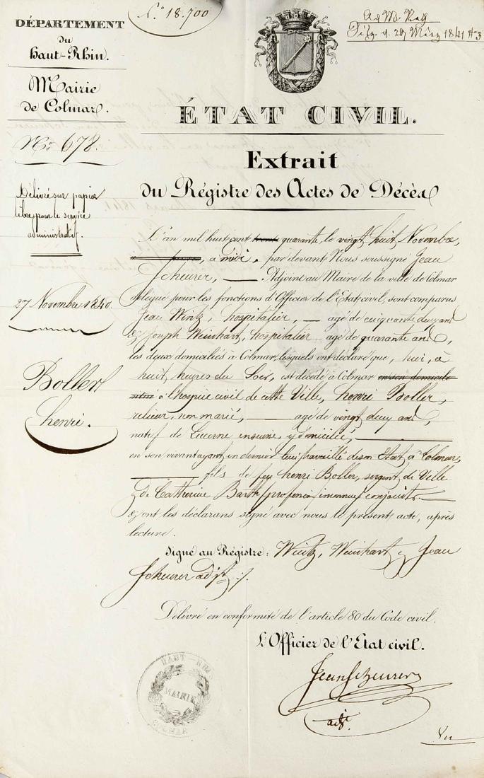Konvolut von ca. 24 Dokumenten und Autographen des 18. - 3