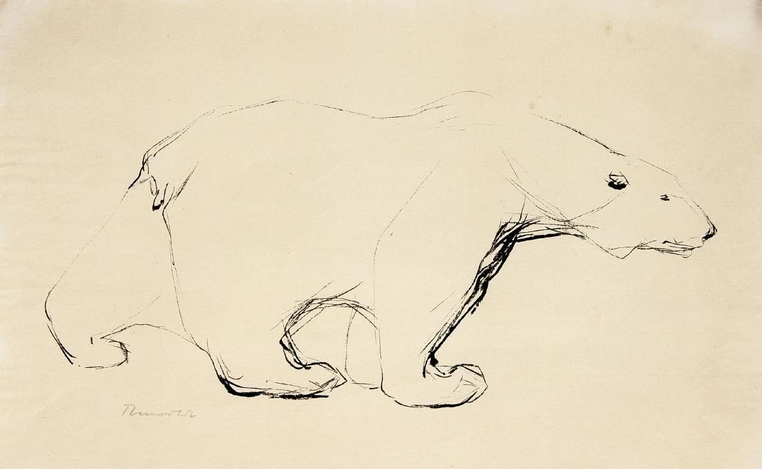 Hans Martin Ruwoldt (1891-1969), schreitender Eisbär,