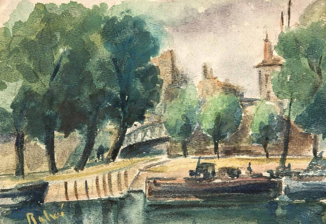 Arnold Balwé (1898-1983), urban jetty on the canal,