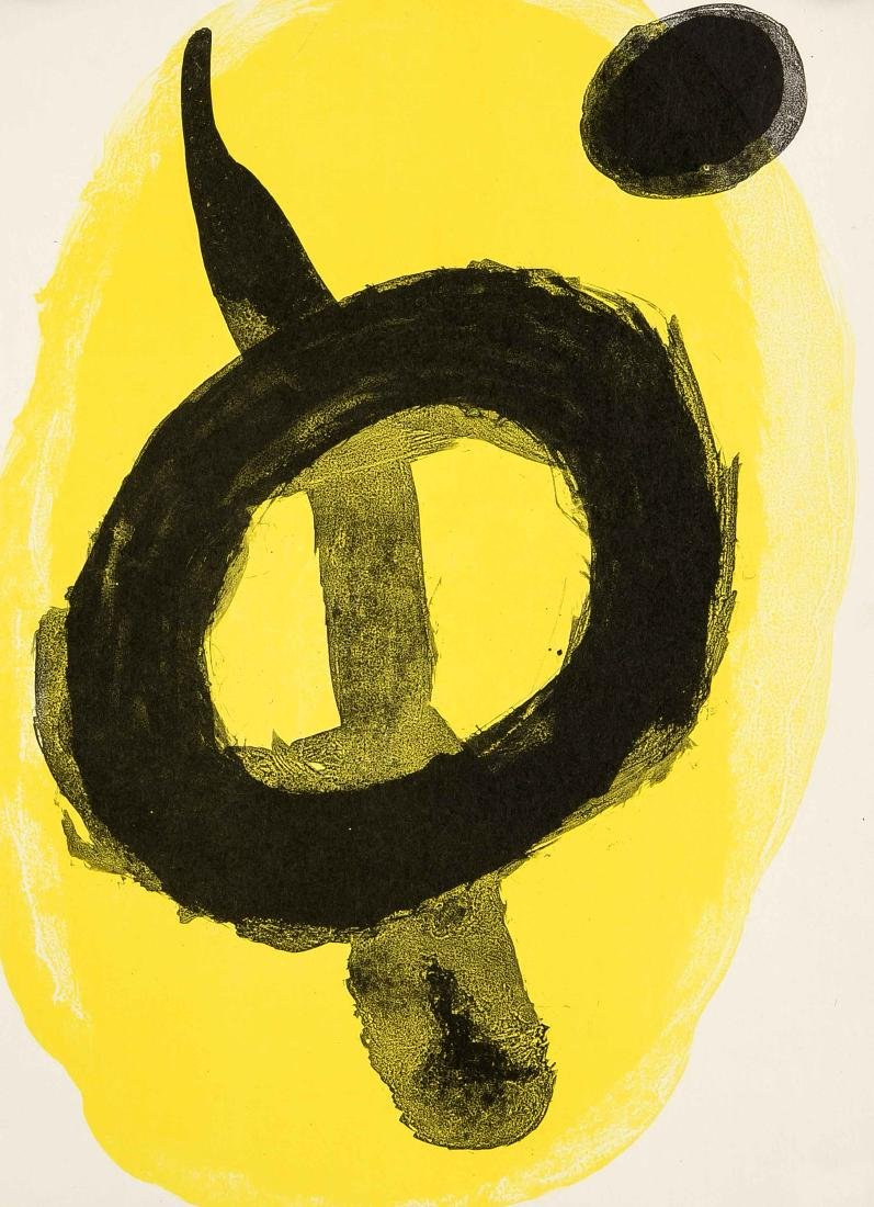 Joan Miro (1893-1983), color lithograph in yellow and