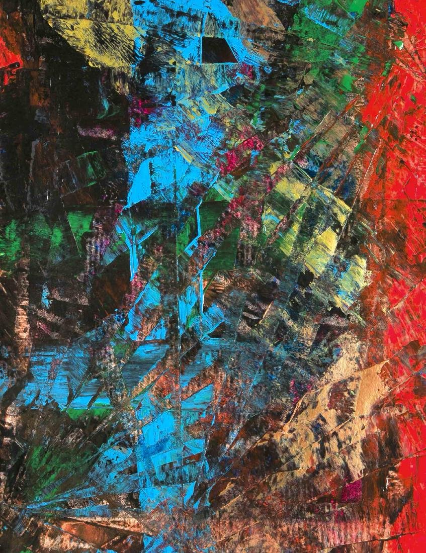 Fred Tiger (sic!), zeitgenössischer Maler, informelle