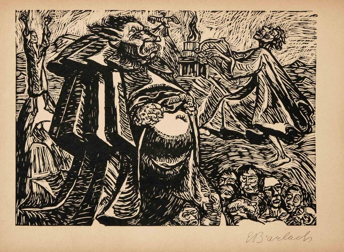 Ernst Barlach (1870-1938), Die Wandlungen Gottes, - 4