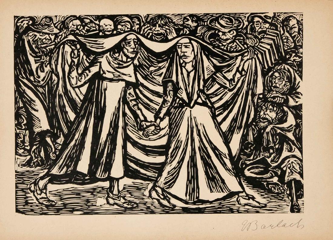 Ernst Barlach (1870-1938), Die Wandlungen Gottes, - 5