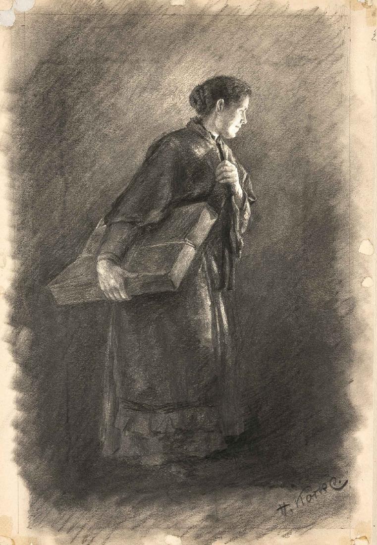 Hugo Köcke (1874-1956), Wittenberger Marktfrau mit