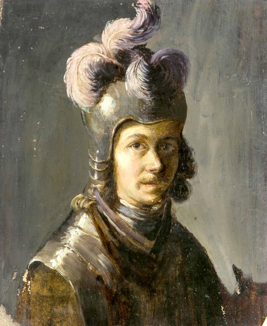 Anonymous painter of the 19th century, portrait of a
