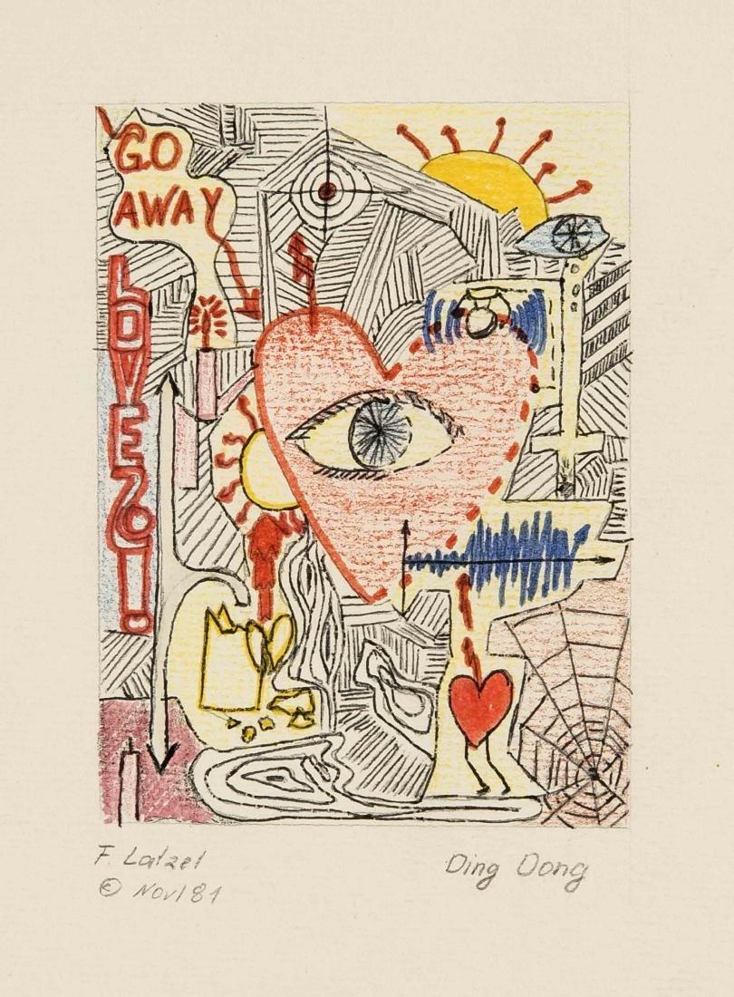 F. Latzel, Künstler um 1980, Konvolut von 3 - 2