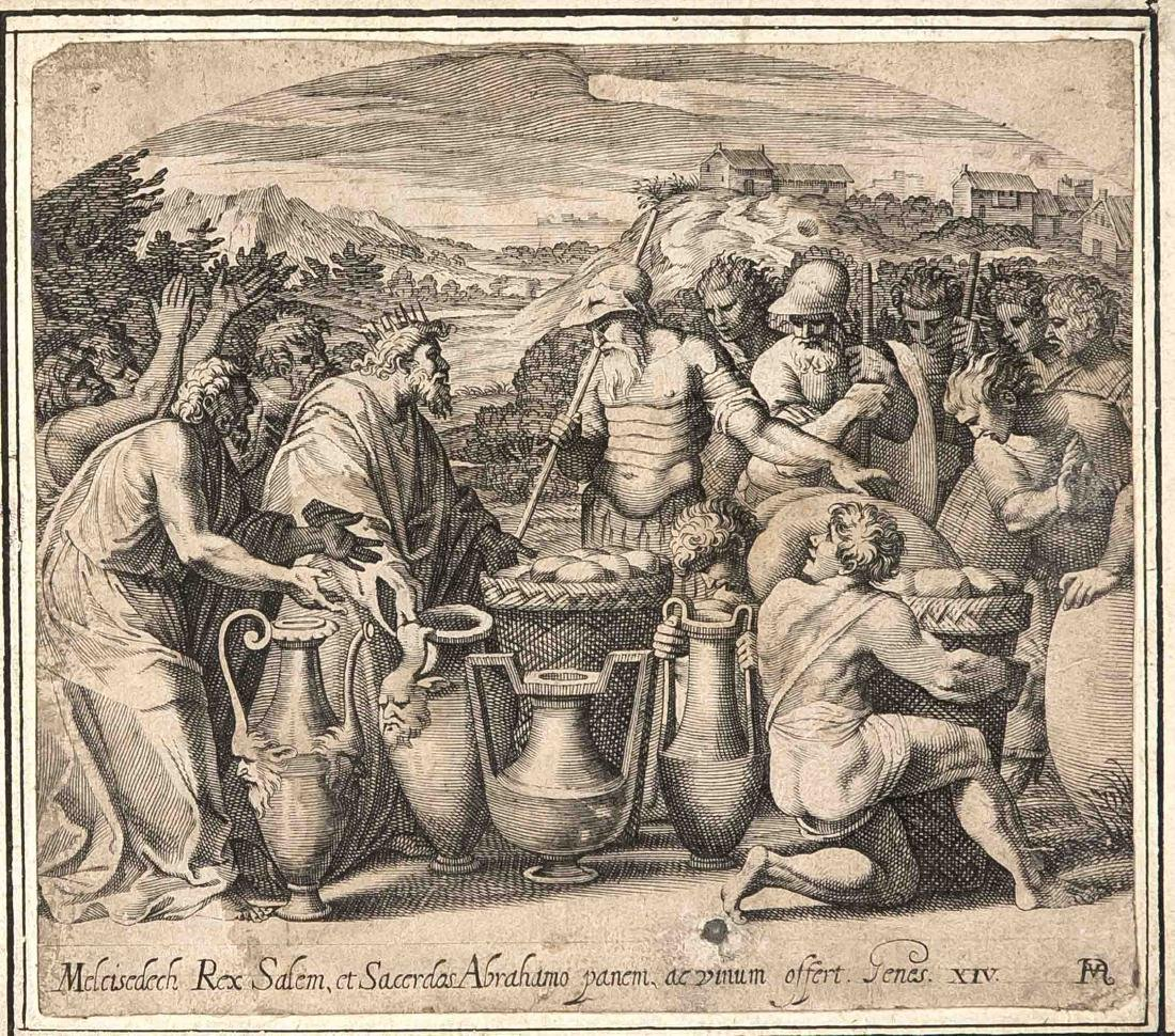 Francisco Villamena (1566-1624), Melchizedek sacrifices