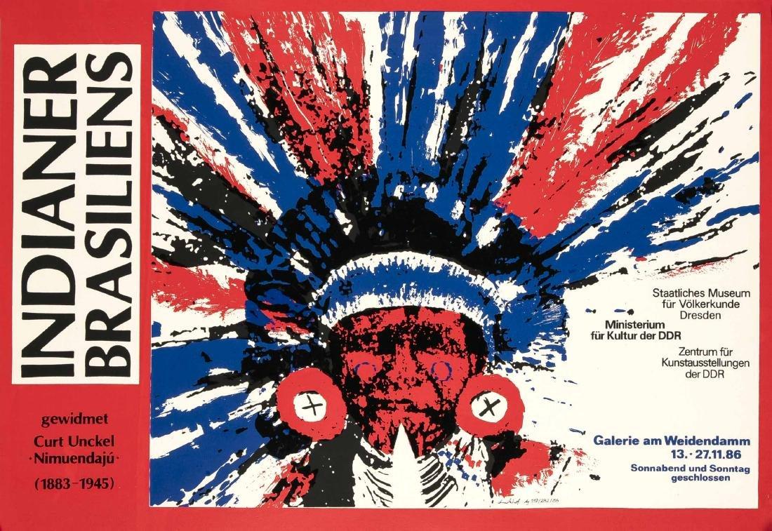 Konvolut von 10 Plakaten, DDR, Kunstausstellungen, - 4