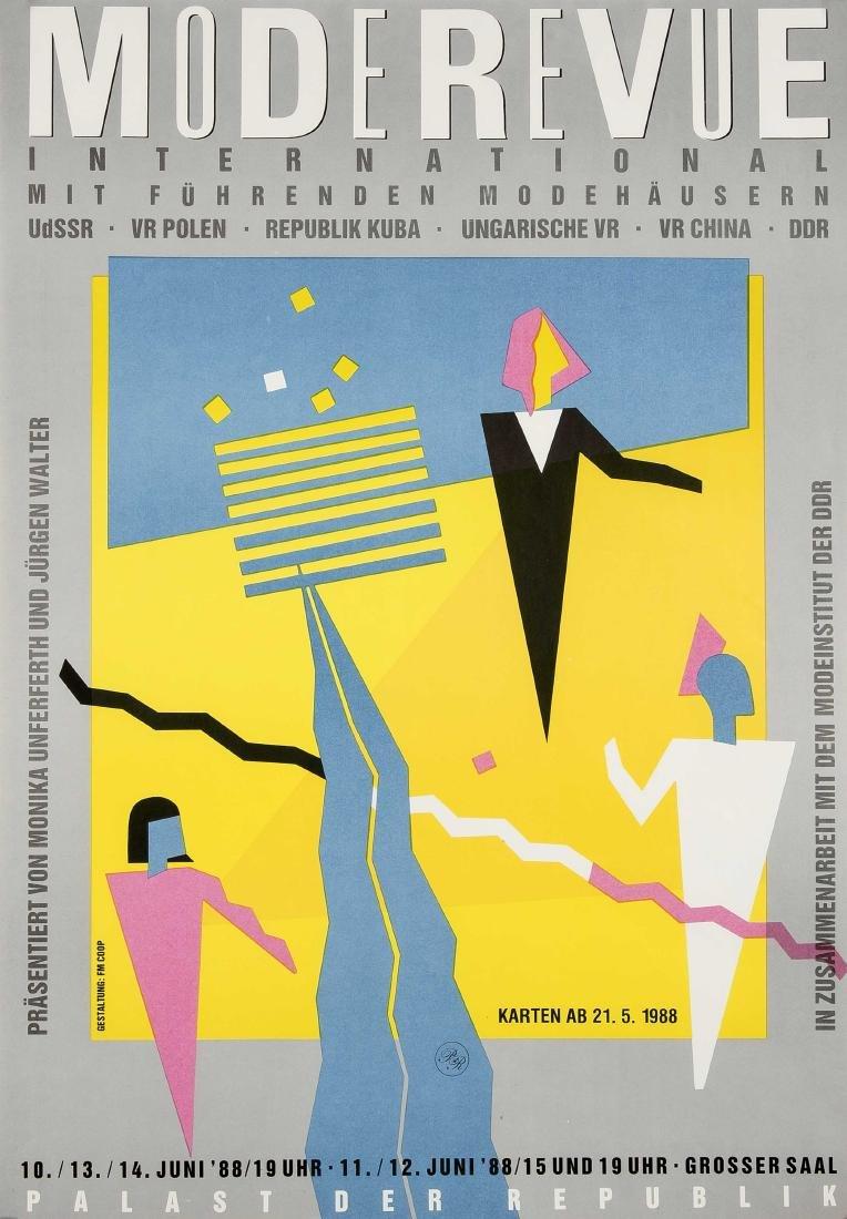 Konvolut von 10 Plakaten, DDR, Kunstausstellungen,