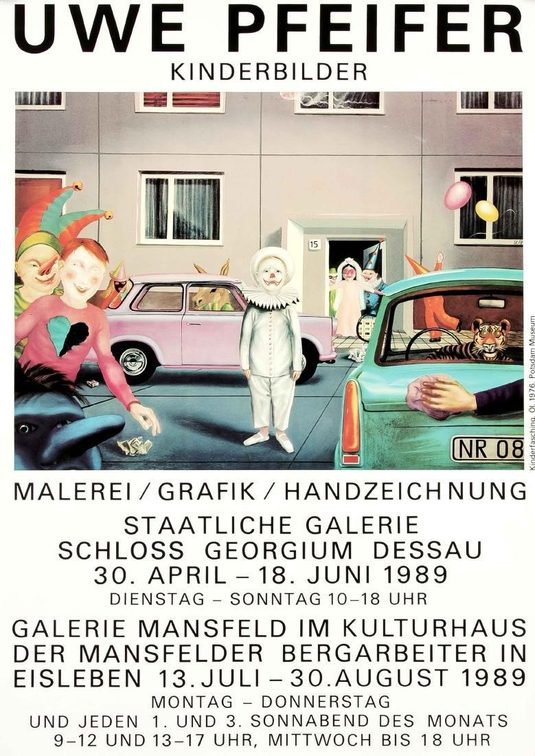 Konvolut von 10 Plakaten, DDR, Kunstausstellungen, - 2