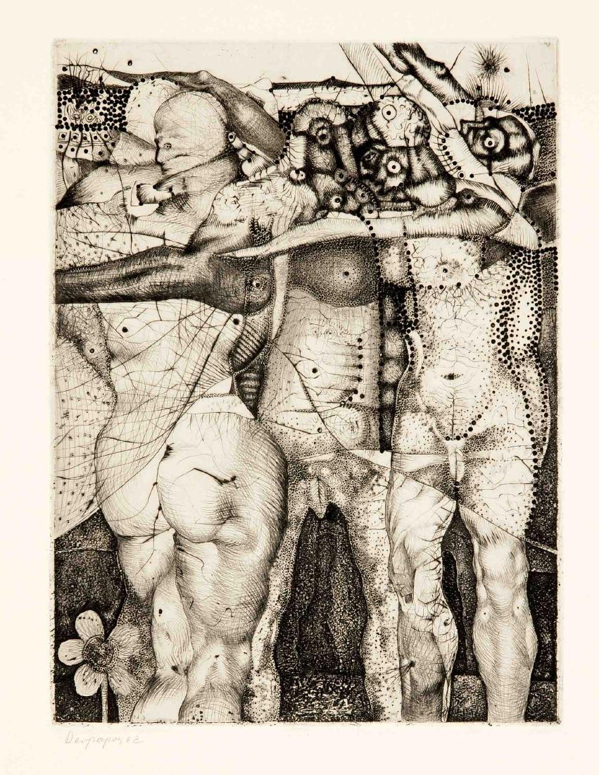 Konvolut von 8 Grafiken, 2. H. 20. Jh., Hermann Ober