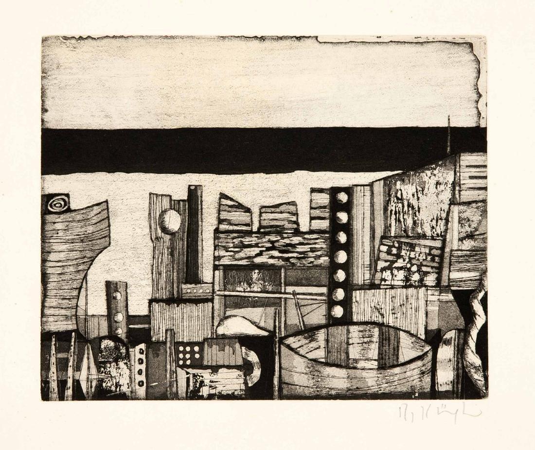 Konvolut von 8 Grafiken, 2. H. 20. Jh., Hermann Ober - 2
