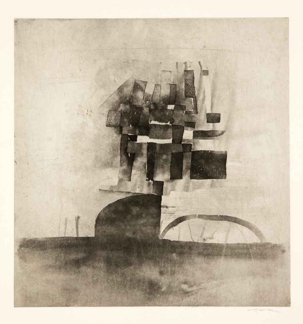 Konvolut von 8 Grafiken, 2. H. 20. Jh., Hermann Ober - 6