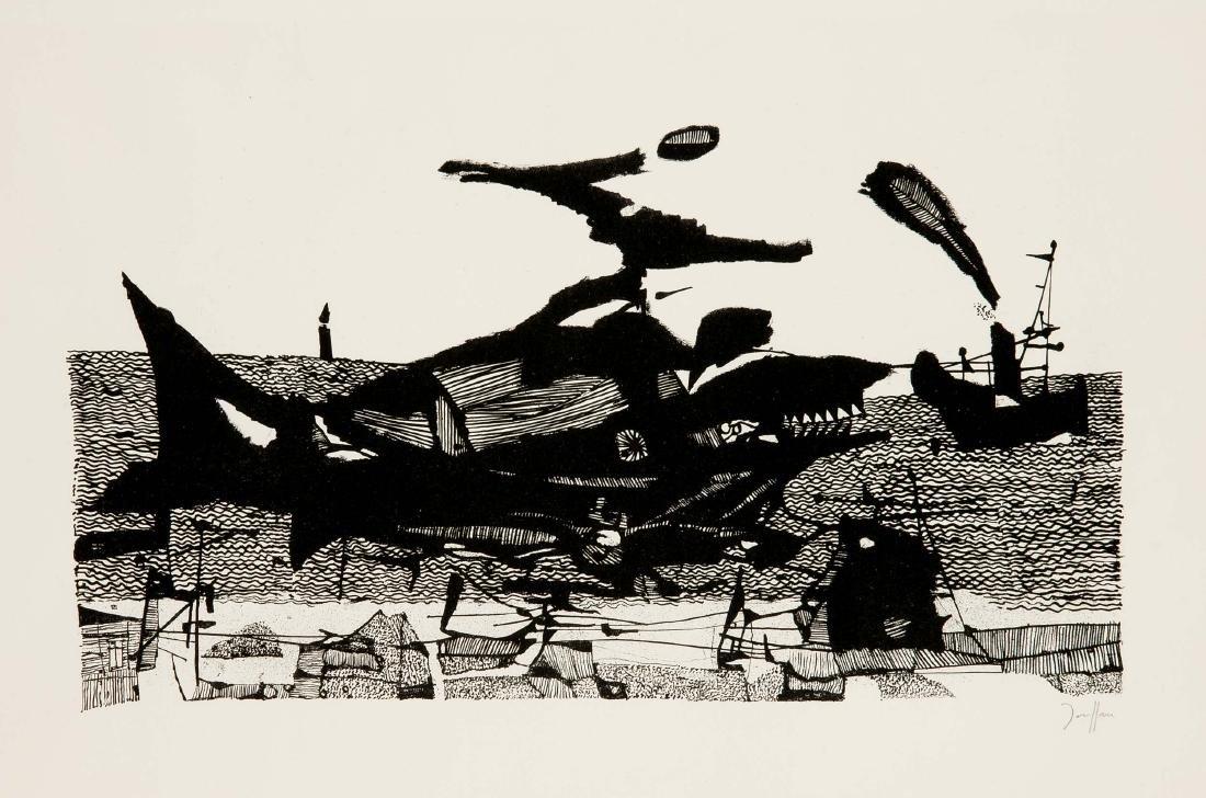 "Horst Janssen (1929-1995), ""Moby Dick"", Lithografie auf"